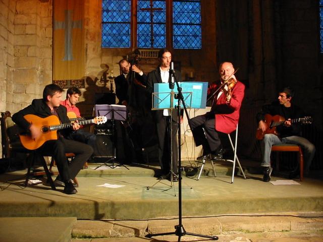 Concert jazz en 2005 - Eglise de Brenouille