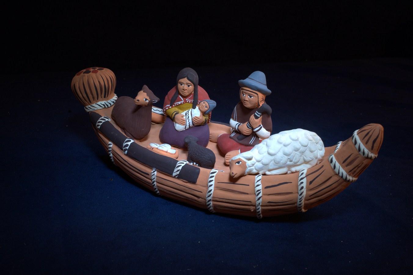 Creche de noel - Brenouille - perou barque