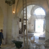 Descente de l'ancienne echelle du clocher - Eglise St Rieul de Brenouille.