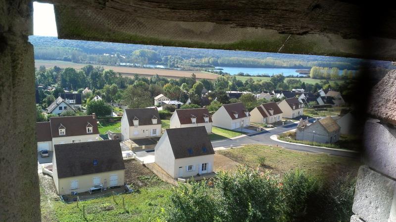 Vue depuis le clocher. Eglise St Rieul de Brenouille.