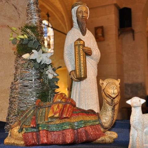 Crèches des moniales de Bethléem - Roi mage et dromadaire