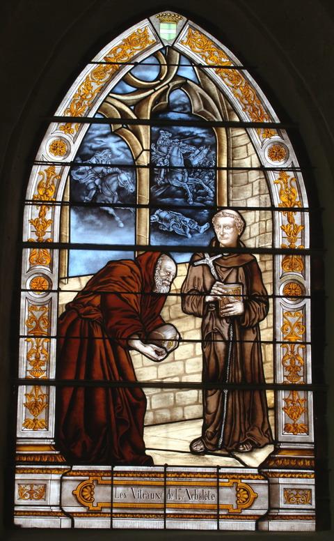 Vitrail historié de l'église Saint Rieul de Brenouille, installé en 2006