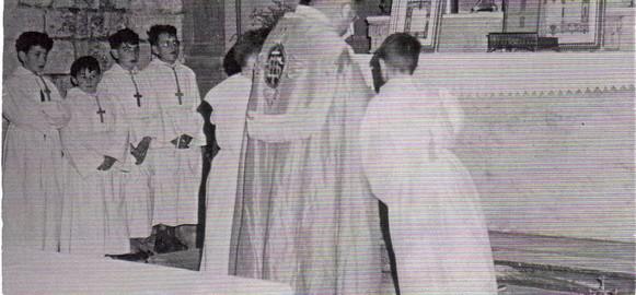Choeur de l'église de Brenouille - Juin 1954