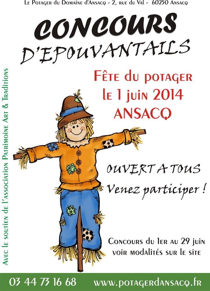Affiche epouvantail Ansacq 2014
