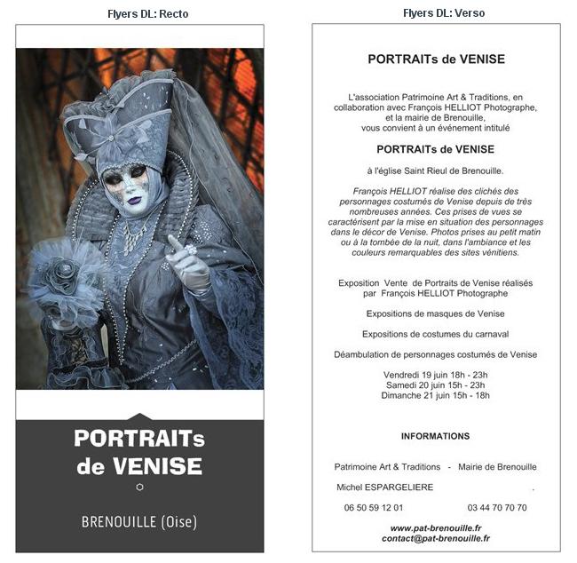 Flyers-PORTRAITs de VENISE