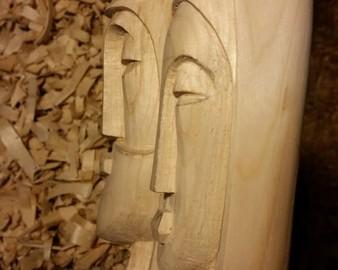 Creche en bois de noel