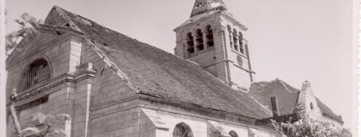 Eglise de Brenouille avant restauration 1961