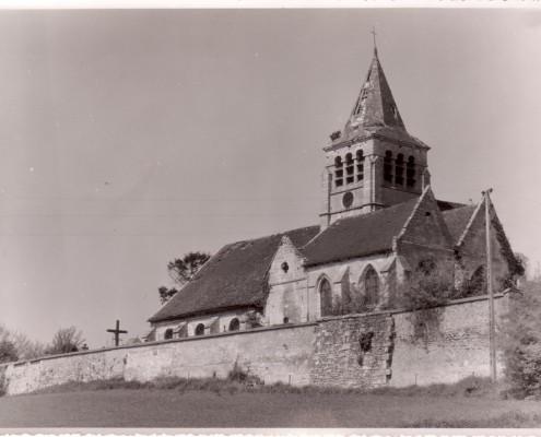 Eglise de Brenouille vue sud avant 1961
