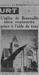 Parisien Eglise de Brenouille octobre 1961
