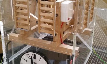 Detail maquette eglise Bodet